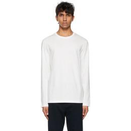 The Row White Leon Long Sleeve T-Shirt 189 K291