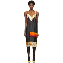 Kwaidan Editions Black and Beige Panelled Dress SS21WD047W_VCP