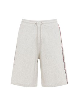 Cotton French Terry Shorts W/ Side Bands Moncler 73IMJ6041-OTA10
