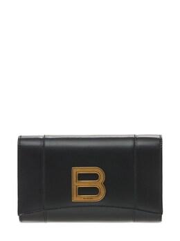 Кожаный Кошелек Hourglass Balenciaga 73IWD2089-MTAwMA2