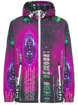 Куртка С Принтом Из Легкого Нейлона Diesel 73IBQT019-OVhYQQ2