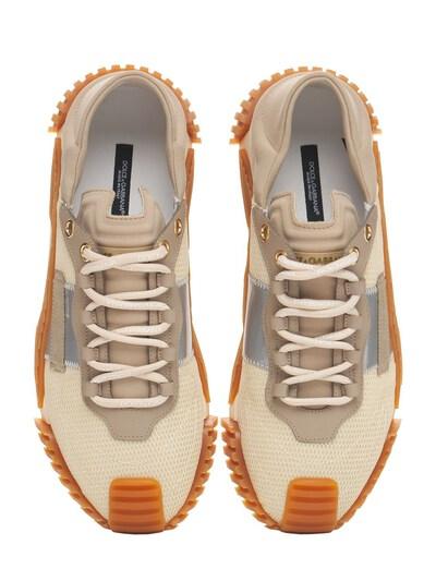 Кроссовки Из Сетки Меш И Кожи Ns1 Dolce&Gabbana 73I0AP004-OEIxNTk1 - 4
