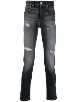 Calvin Klein Jeans джинсы скинни с эффектом потертости J30J318033