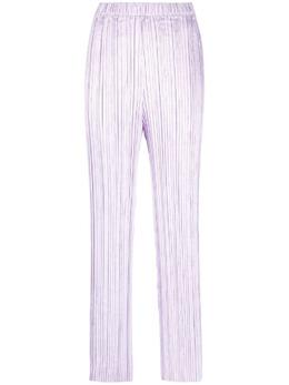 Forte_Forte расклешенные брюки со складками 8224