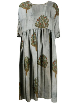 Uma Wang расклешенное платье с принтом UW5062V39S1
