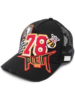Philipp Plein кепка с нашивкой-логотипом PAAAUAC0091PTE003N