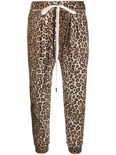R13 спортивные брюки с леопардовым принтом R13W7616LEP - 1