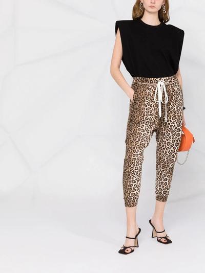 R13 спортивные брюки с леопардовым принтом R13W7616LEP - 2