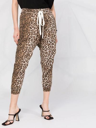 R13 спортивные брюки с леопардовым принтом R13W7616LEP - 5