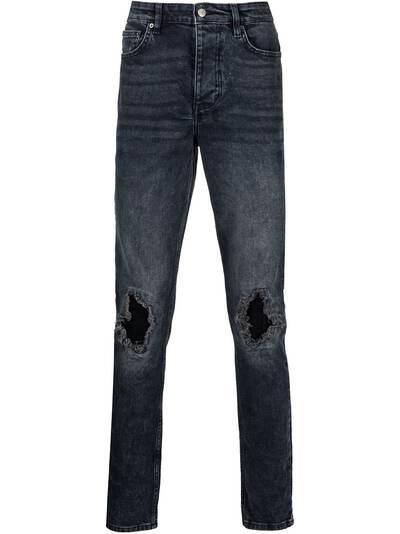 Ksubi прямые джинсы с эффектом потертости 5000005513 - 1
