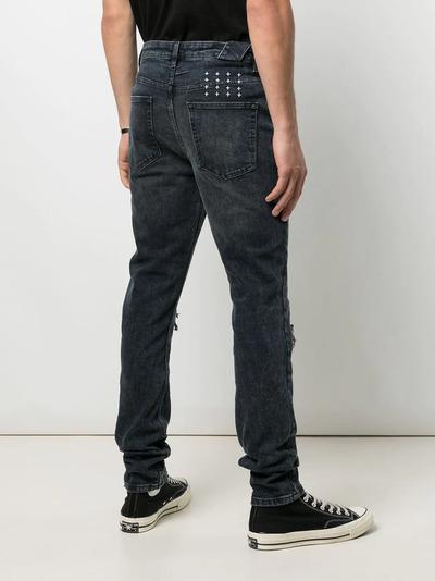 Ksubi прямые джинсы с эффектом потертости 5000005513 - 4