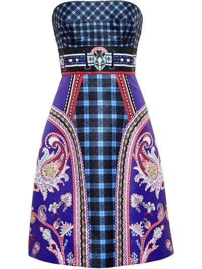 Mary Katrantzou платье-бюстье 'Kelly' PF15RDR0020URDUNAVY - 1