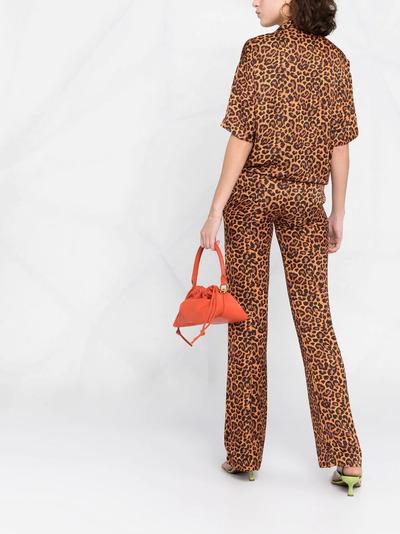 Laneus рубашка с леопардовым принтом и короткими рукавами 6945 - 4