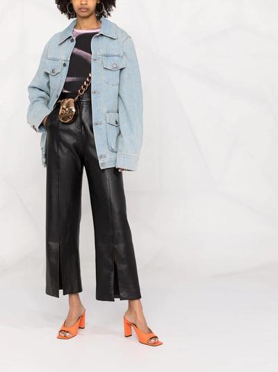 Off-White джинсовое пальто с цветочной вышивкой OWYE023S21DEN0030584 - 2