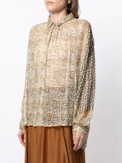 Mes Demoiselles блузка с цветочным принтом HELIOPHILESHIR - 3