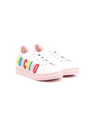Moschino Kids кроссовки с логотипом 67387V1 - 1