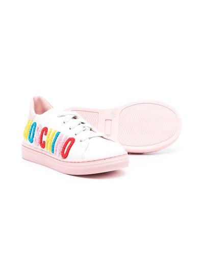 Moschino Kids кроссовки с логотипом 67387V1 - 2