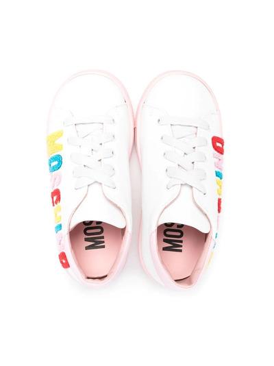 Moschino Kids кроссовки с логотипом 67387V1 - 3