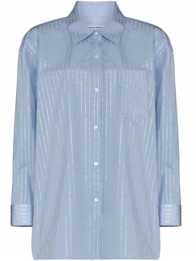 Alexander Wang рубашка с длинными рукавами и кристаллами 1WC2211421 - 1