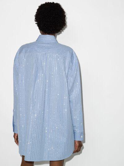 Alexander Wang рубашка с длинными рукавами и кристаллами 1WC2211421 - 3