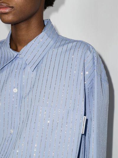 Alexander Wang рубашка с длинными рукавами и кристаллами 1WC2211421 - 5