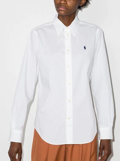 Polo Ralph Lauren рубашка с вышитым логотипом 211806180002 - 2