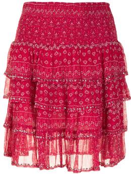 Mes Demoiselles юбка с оборками и цветочным принтом GAUSSSKIRT