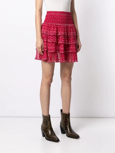 Mes Demoiselles юбка с оборками и цветочным принтом GAUSSSKIRT - 3