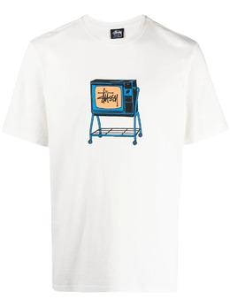 Stussy футболка Rolling TV с принтом 1904672