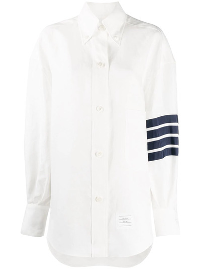 Thom Browne рубашка оверсайз с полосками 4-Bar FLL099B04878 - 1