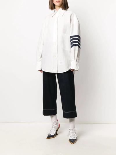 Thom Browne рубашка оверсайз с полосками 4-Bar FLL099B04878 - 2