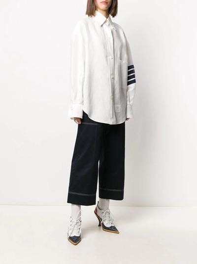 Thom Browne рубашка оверсайз с полосками 4-Bar FLL099B04878 - 3