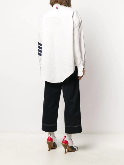 Thom Browne рубашка оверсайз с полосками 4-Bar FLL099B04878 - 4