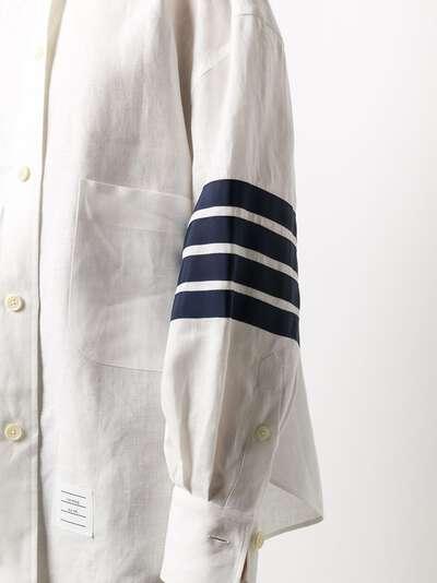 Thom Browne рубашка оверсайз с полосками 4-Bar FLL099B04878 - 5
