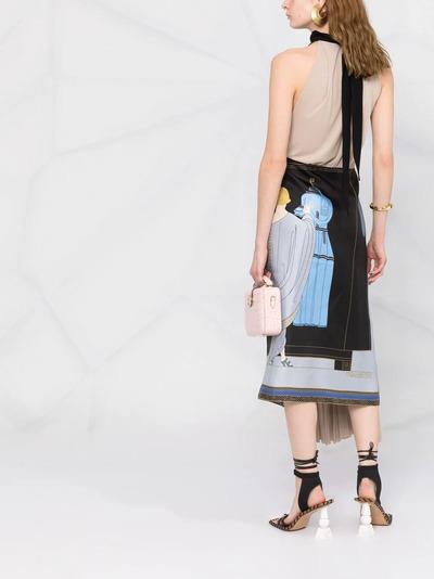 Lanvin платье с принтом The Choice RWDR337I4844P21S1 - 4