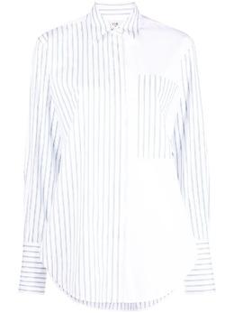 Victoria, Victoria Beckham рубашка в полоску со вставками 2221WSH002688A