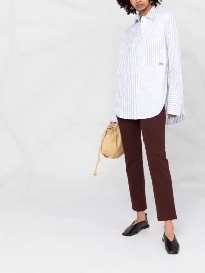 Victoria, Victoria Beckham рубашка в полоску со вставками 2221WSH002688A - 2