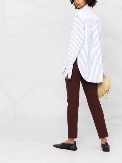 Victoria, Victoria Beckham рубашка в полоску со вставками 2221WSH002688A - 4