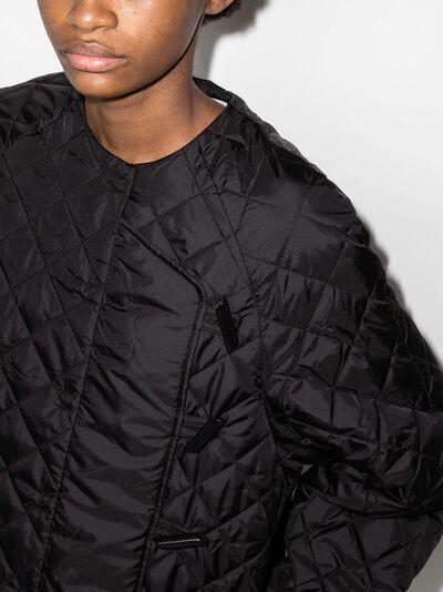 Ganni стеганая куртка с воротником Питер Пэн F5812RecycledRipstopQuilt - 4