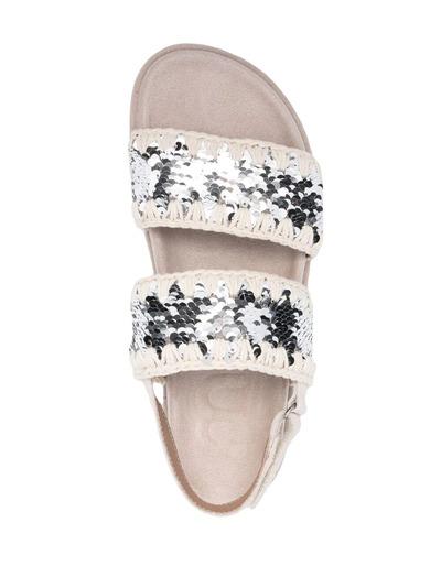 Mou сандалии с пайетками MUSW251002G - 4