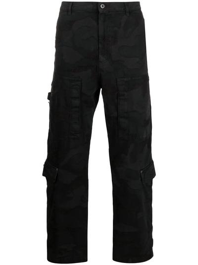Valentino брюки из денима с камуфляжным принтом VV3DD00R724 - 1
