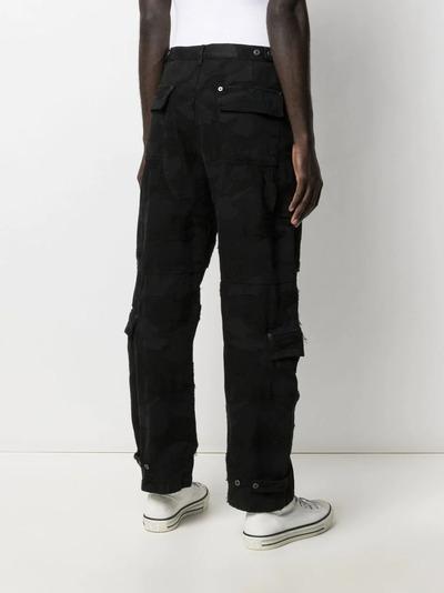Valentino брюки из денима с камуфляжным принтом VV3DD00R724 - 4