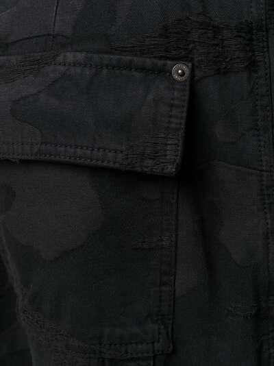 Valentino брюки из денима с камуфляжным принтом VV3DD00R724 - 5