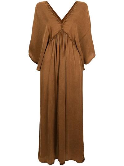 Mes Demoiselles платье с V-образным вырезом и расклешенными рукавами SMOOTHDRESS - 1