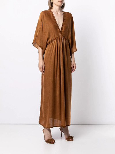 Mes Demoiselles платье с V-образным вырезом и расклешенными рукавами SMOOTHDRESS - 3