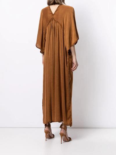 Mes Demoiselles платье с V-образным вырезом и расклешенными рукавами SMOOTHDRESS - 4