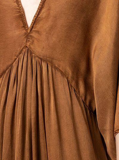 Mes Demoiselles платье с V-образным вырезом и расклешенными рукавами SMOOTHDRESS - 5