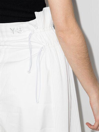 Y-3 плиссированная юбка Brace асимметричного кроя GT5288 - 4