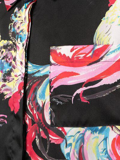 MSGM рубашка с графичным принтом 3042MDE11621735 - 5