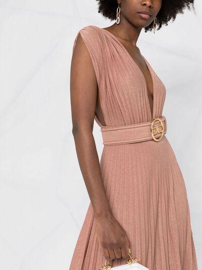 Elisabetta Franchi плиссированное платье макси AB14913E2 - 3
